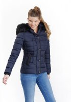 Marikoo Unique ladies quilted winter jacket with fur collar