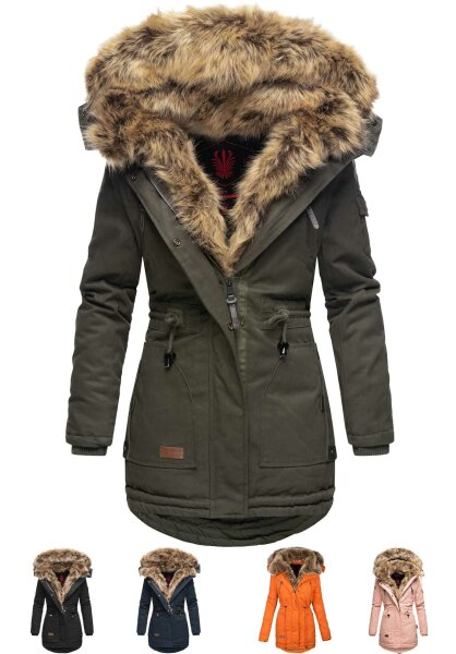 Navahoo Daria ladies parka with faux fur collar