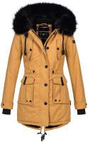 Navahoo Luluna ladies winter jacket with faux fur - Camel-Gr.S