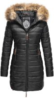 Marikoo Rose Damen Lange Winter Steppjacke Schwarz...