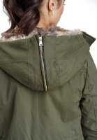 Navahoo Diamond ladies jacket with teddy fur