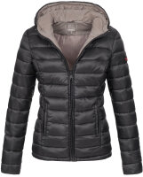 Marikoo Lucy ladies quilted jacket with hood - Black-Gr.XL