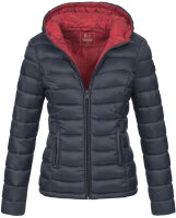 Marikoo Lucy ladies quilted jacket with hood - Navy-Gr.M