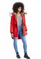 Navahoo Bombii ladies winter jacket long with faux fur