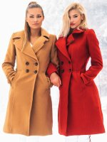 Navahoo Wooly Damen Trenchcoat Winter Mantel