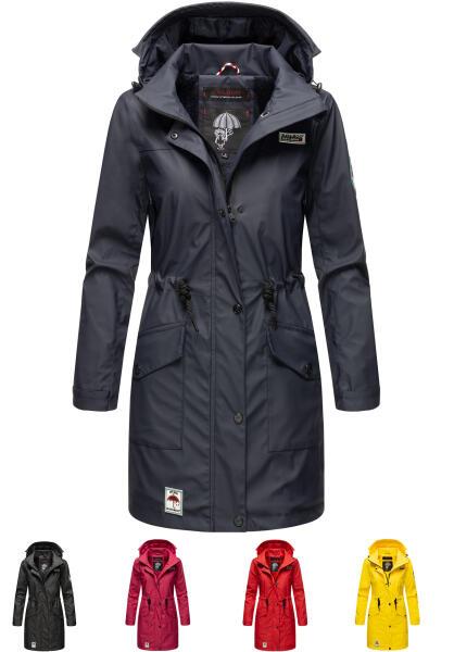 Navahoo Deike ladies rain jacket raincoat long teddy fur