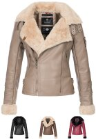 Marikoo Kokoo Ladies Faux Leather Jacket B684