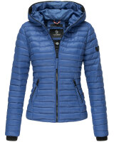 Navahoo Ladies Jacket Quilted Jacket Transition Jacket Quilted Kimuk NEW B348 Blue Size S - Size 36