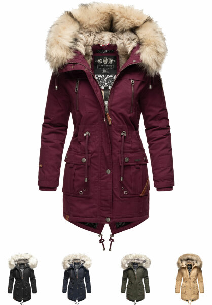 Navahoo Honigfee ladies parka winter jacket with fur collar