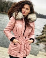 Navahoo Lady Like Damen Winterjacke mit Kapuze