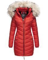 Navahoo Nimalaa warme Damen Winter Steppjacke mit Kapuze Rot Größe XXL - Gr. 44
