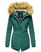 Marikoo Akira warme Damen Winterjacke mit Kapuze Ocean Green Größe S - Gr. 36
