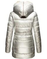 Marikoo Lieblings Jacket Ladies Winterjacket B817 Silver Size M - Size 38