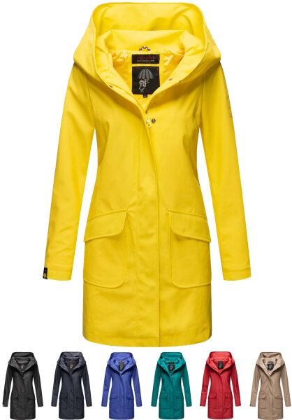 Marikoo Mayleen ladies softsBright rain jacket with hood
